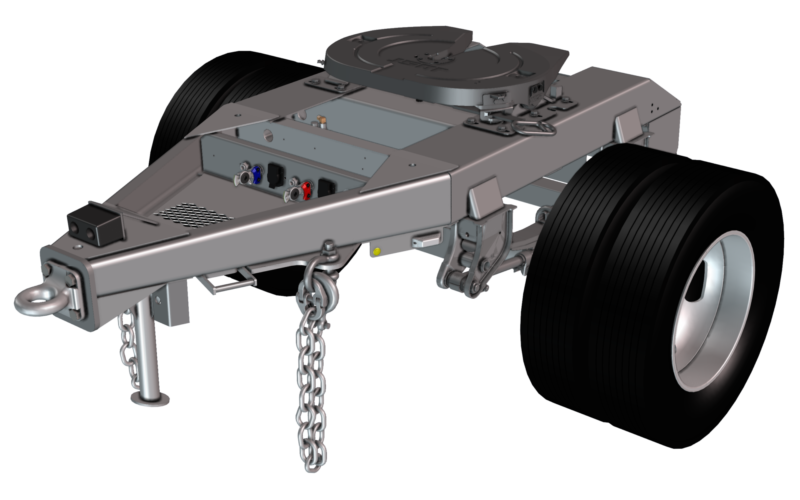 Rendering of a single axle dolly
